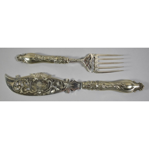 37 - A Pair of Nice Quality Silver Plated Fish Servers...