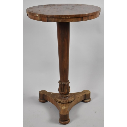 43 - A Late 19th Century Circular Topped Occasional Table on Tapering Turned Stand with Acanthus Leaf Car...