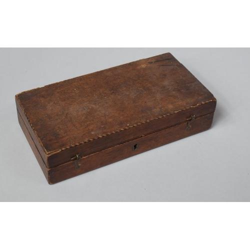 34 - A 19th Century Mahogany Case Containing Various Enamel Colours, Underglazes etc 26cm wide