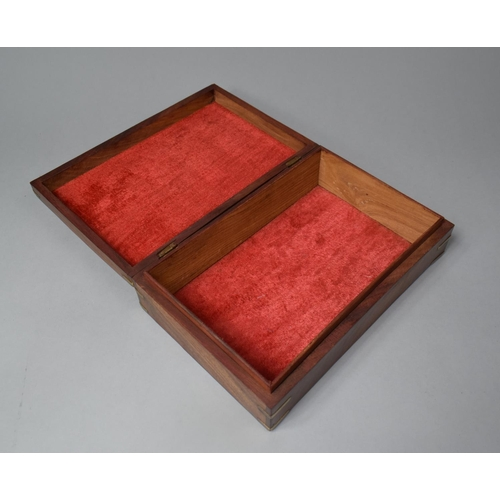 4 - A Modern Brass Inlaid Far Eastern Work Box, 30cm Wide...