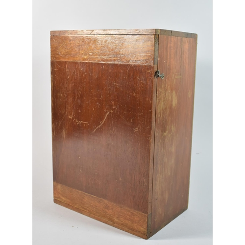 44 - An Edwardian Mahogany Microscope Box, Fitted Interior, 26cm Wide and 38cm High