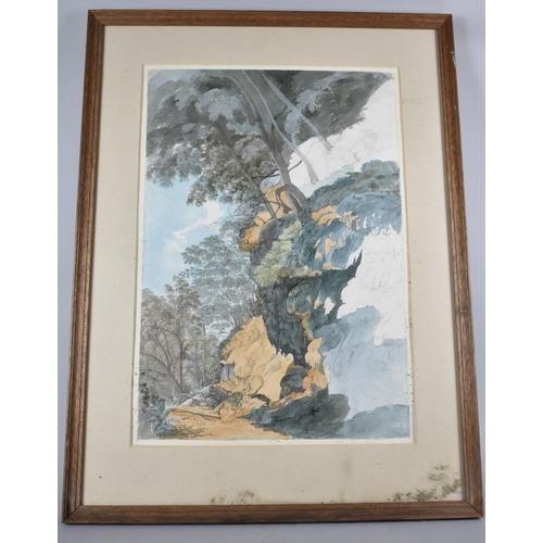 137 - A Framed Watercolour by Lieutenant General Ezekiel Barton,
