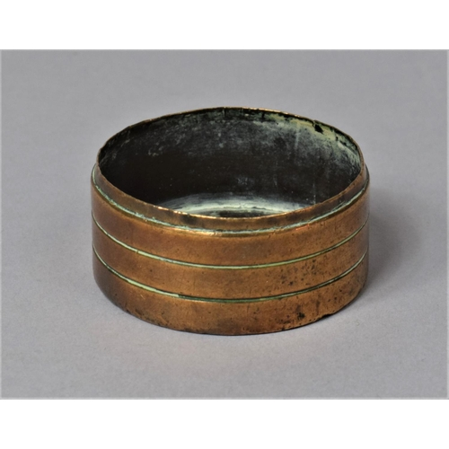 16 - A Circular Copper and Brass Cap or Lid, Decorated in the Manner of a Britannia Penny 1797, 4cm Diame...