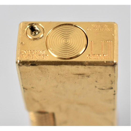34 - A Gold Plated Dunhill Lighter