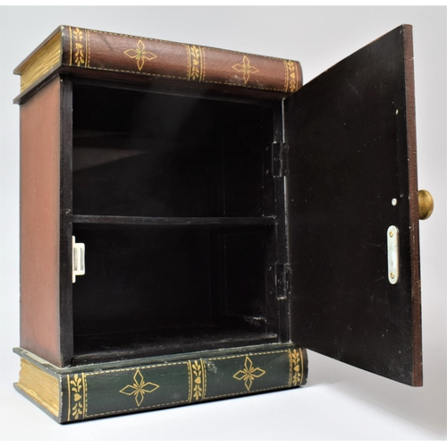 5 - A Modern Novelty Table Top Cabinet in the Form of a Row of Leather Bound Books, 27.5cm Wide, 17.5cm ...
