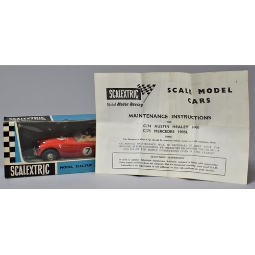 57 - A Vintage Boxed Scalextric Austin Healey 3000