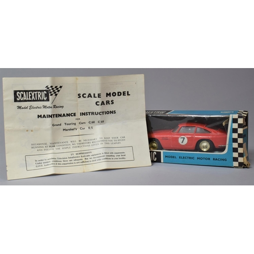 58 - A Vintage Boxed Scalextric Aston Martin - Without Lights