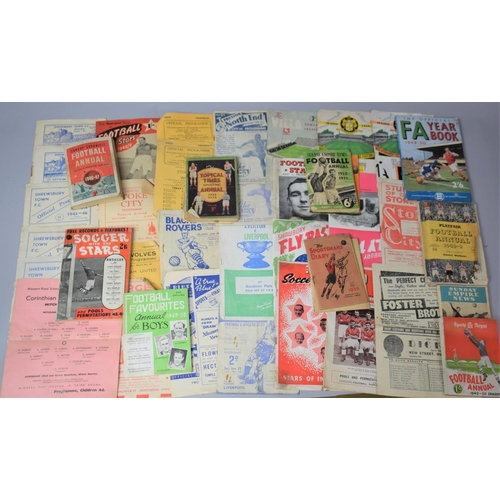 176 - A Collection of 1940's Soccer Magazines and 1940's Football Programmes to Include Shrewsbury Town, S...
