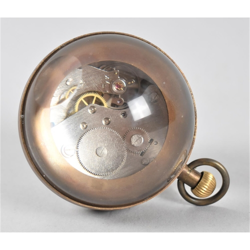 11 - A Reproduction Novelty Desktop Globe Clock, Working Order, 7cm high