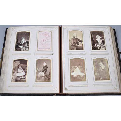 26 - A Late Victorian Photograph Album 'The Rose Album', Containing Monochrome Family Photographs, Portra...