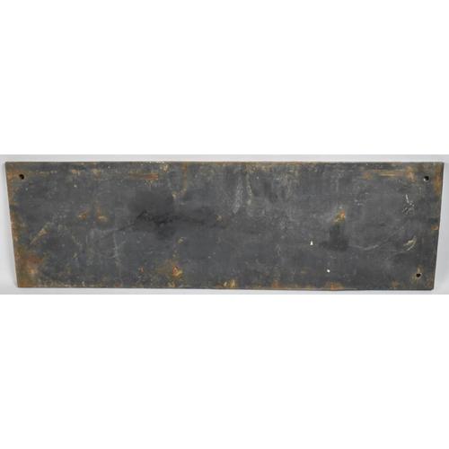 56 - A Victorian Cast Iron Rectangular Notice, 77x24cm