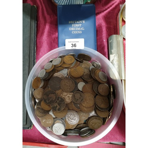 36 - Victorian and later coins.
