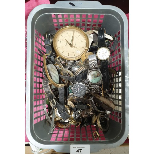 47 - Wrist watches for parts.