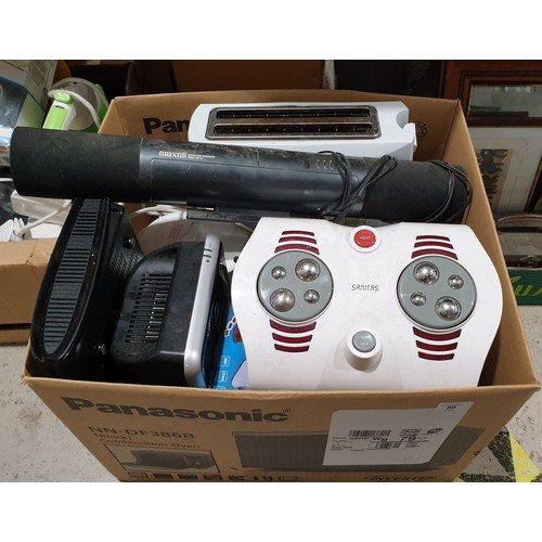 50 - A box of electricals.  No in house shipping, please collect or arrange a shipper.