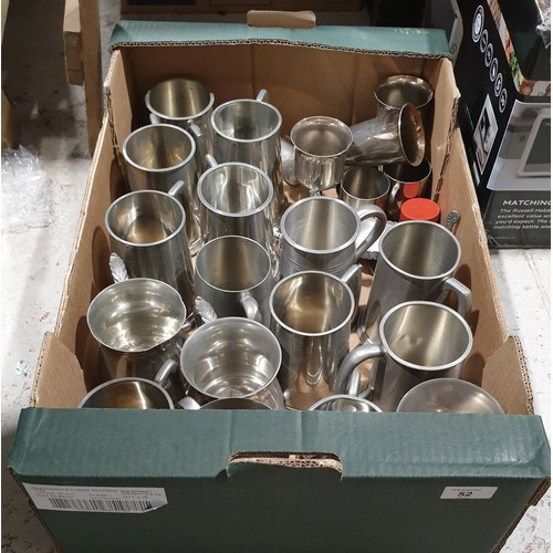 52 - Tankards and other metal ware.