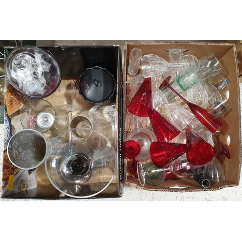 53 - Two boxes of glass ware.  No in house shipping, please collect or arrange a shipper.