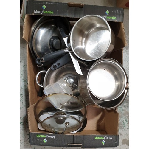 13 - A box of pans.  No in house shipping, please collect or arrange a shipper.