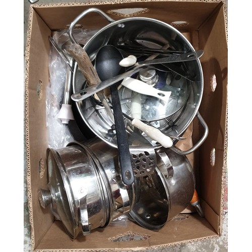 14 - A box of pans.  No in house shipping, please collect or arrange a shipper.