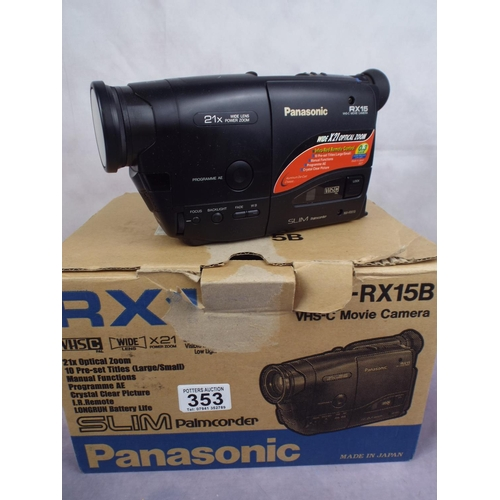 Panasonic RX15 VHS movie camera , boxed with instruction manual