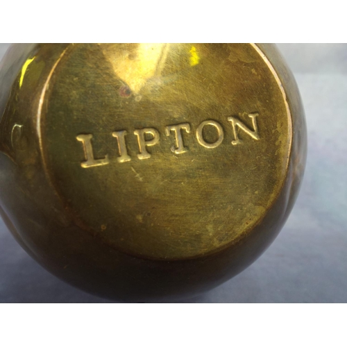 100 - 1924 British Empire Exhibition Brass Liptons Teacaddy...
