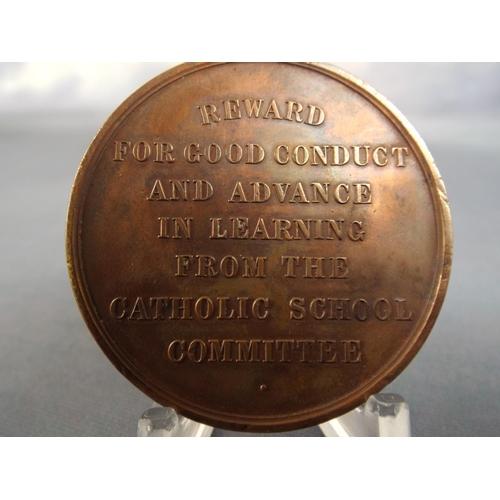 25 - Bronze Catholic School medal...