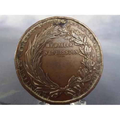 27 - 1876 King leopold of Belgium Bronze medal...
