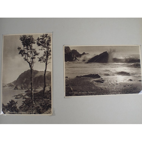 45 - Album of Vintage postcards including signed celebreties of the day plus topographical....