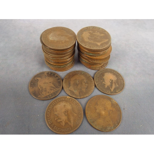 49 - Selection of Victorian and Edwardian Pennies...