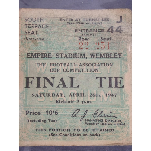 53 - Wembly FA Cup final ticket, Charlton athletic v Burnley, April 26th 1947...