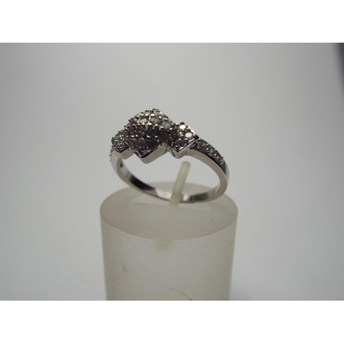 69 - 925 silver multi stone set ring...