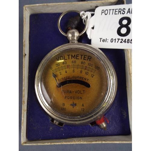 8 - Vintage volt meter in original box...