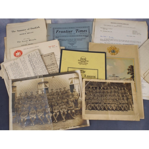 90 - WW1 & WW2 ephemera & Photographs. Interesting lot...