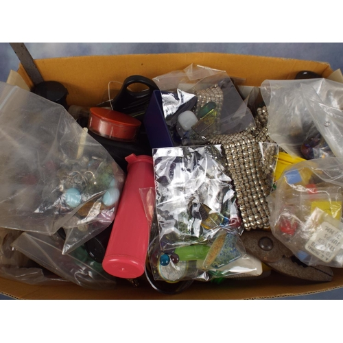 92 - Large box of jewellery making equipment...