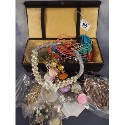 95 - Jewellery box filled with High quality costume jewellery...