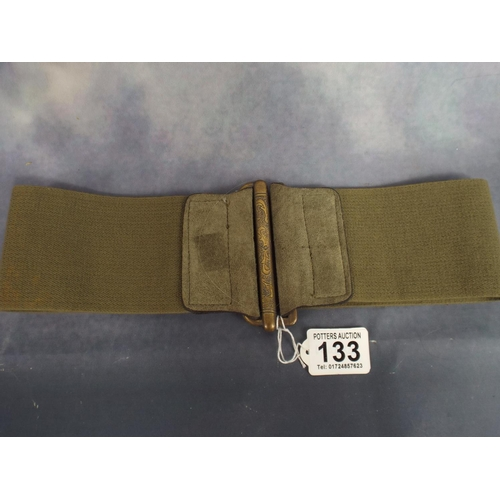 133 - Vintage military type nurses belt...
