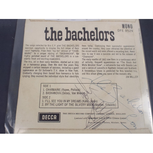 136 - Batchelors vinyl 45. sleeve signed by all four group members...