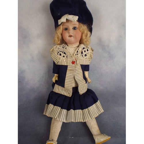 142 - Armand Marseille bisque porcelain headed doll C1910. Series 390 model head...