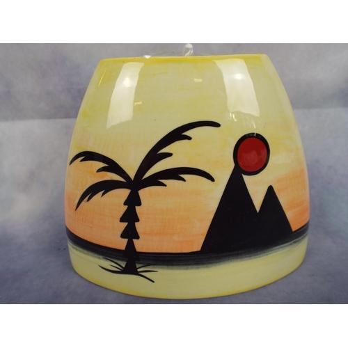155 - Lorna Bailey pyramid purse vase...