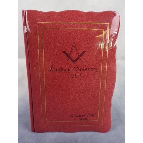158 - Royal Winton masonic trinket box as a book...