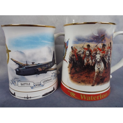166 - Two large Commemorative tankards...