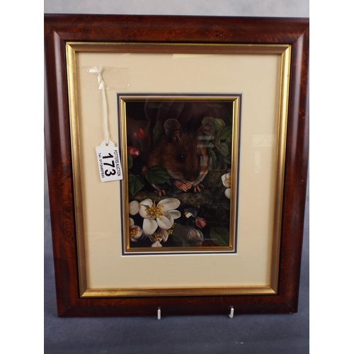 174 - Carl Andrew Whitfield original oil painting of a woodmouse.Framed & Mounted...