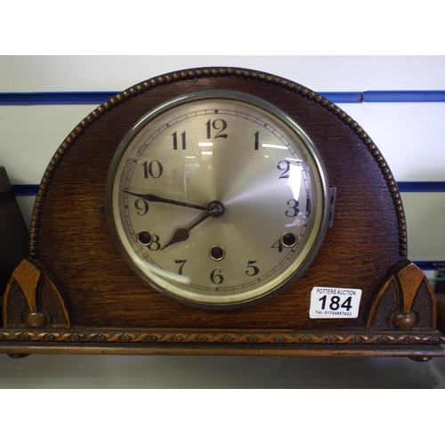 184 - Ornate mantle clock, non runner for spares or repairs...
