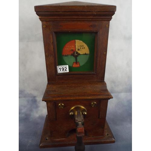 192 - Vintage railway signal box indicator...
