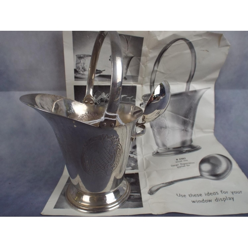 206 - Small Silver Plated sugar jug with spoon , original box & sales sheet...