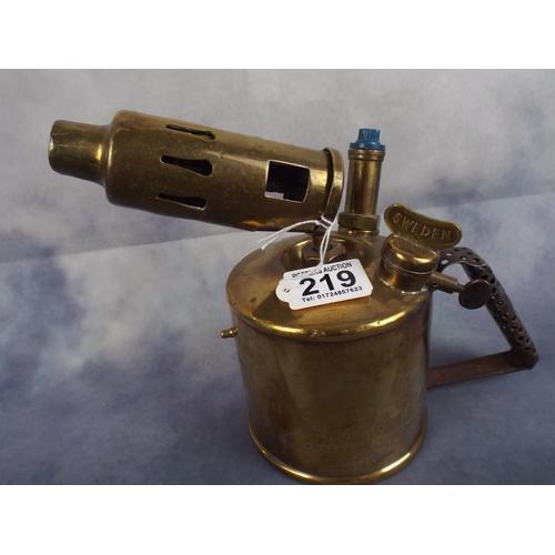 219 - Swedish Made Brass Primus Blowlamp...