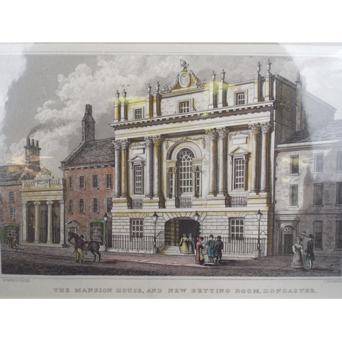 229 - 1831 mounted print of the mansion house at Doncaster...