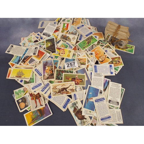 257 - Large bag of vintage cigarette cards...