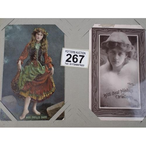 267 - album of 50 plus Edwardian actresses & Models Postcards...