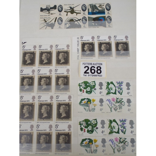 268 - album of UK Mint Stamps...