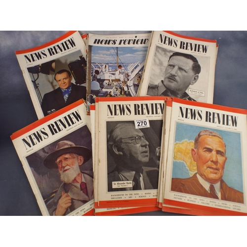 270 - Fifty 1940's News review magazines...